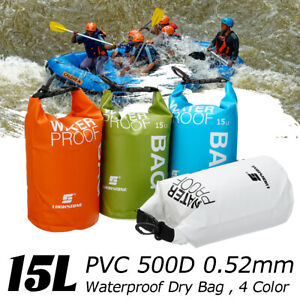 Portable 15L Dry Carry Bag Waterproof Storage Backpack For Boat Kayak Camping