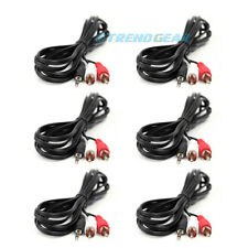 6X 5FT 3.5MM AUX RCA MALE PLUG AUDIO STEREO JACK BLACK CABLE IPHONE IPOD TOUCH