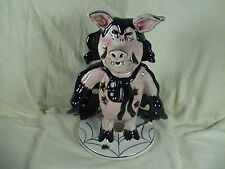 Blue Sky Clayworks Halloween Pig Vampire Votive Heather Goldmine