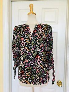 CYNTHIA ROWLEY floral top size M