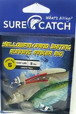 SureCatch 691ywr62 Yellowfin Sand Whiting Running Sinker Rig Size 6 8lb Trace