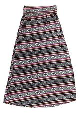 Jon & Anna Size Large Zebra Multi Color Geometric Tribal Print Long Maxi Skirt
