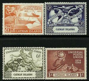 Cayman Is 1949 UPU set Mint Lightly Hinged Fresh Gum
