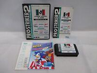 Mega-Drive Genesis -- Pro Striker 2 J League -- Box. JAPAN Game Sega. 14280