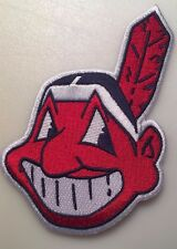 "Cleveland Indians patch Chief Wahoo patch jersey sleeve MLB logo patch 5"" tall"