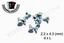 SET OF 10 Accordion Screws Phillips Flat Size 2.2 x 4.3 mm Parts