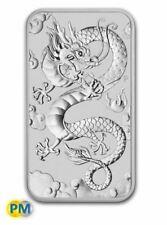 2019 Rectangle Dragon 1oz Silver Bullion Coin