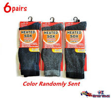 6pairs Men Heated Heat Thermal Socks Size 6-11 Winter Warm Boot Work Sock Thick