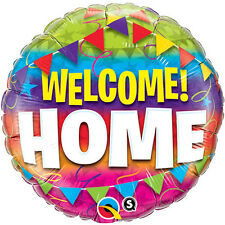 "WELCOME HOME BALLOON 18"" WELCOME HOME PENNANTS QUALATEX FOIL BALLOON"