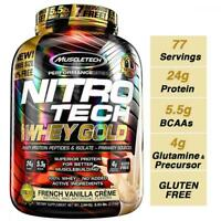 MuscleTech NitroTech Whey Gold, 100% Protein Powder, 5.5 Pound