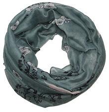 Donna Sciarpa ad anello eternità Eden Progettazione grigio Tubolare