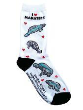 I love Manatees (50804) Women Socks Cotton New Gift Fun Unique Fashion