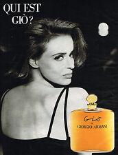 PUBLICITE ADVERTISING 035  1994  GIORGIO ARMANI parfum de femme GIO