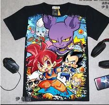 Cosplay Dragonball Z Anime Manga T-Shirt Kostüme Schwarz Neu
