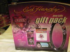 NEW-Ed Hardy/Christian Audigier Love Kills Auto Gift Pack-CD Visor-Steering