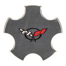 OEM NEW Wheel Hub Center Cap Silver w/Cross Flags Logo 00-04 Corvette 9594012