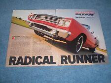 "1969 Plymouth Rod Runner Convertible Resto-Mod Article ""Radical Runner"""