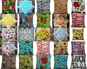Indian Handmade Vintage Cotton Kantha Assorted Cushion Pillow Cover Room Decor