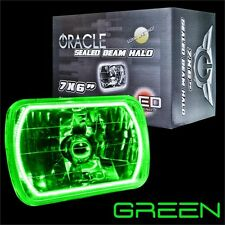 """ORACLE 7""""x6"""" Sealed Beam Single Headlight + ORACLE Pre-Installed Green SMD Halo"""