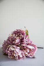 mauve soie Pivoines Tas de 5 Large têtes décor Mariage bouquets Pièce maîtresse