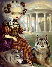 Loup-Garou Le Temple Jasmine Becket-Griffith Canvas Print gothic rococo wolf art