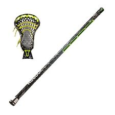 "New Reebok 10K Lax 32"" box lacrosse stick strung green Lightning shaft with head"