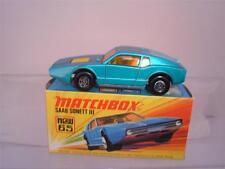 MATCHBOX LESNEY SUPERFAST NO65 BLUE SAAB SONETT 111 & ORIGINAL BOX SEE PHOTOS
