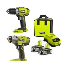 RYOBI 18V CORDLESS COMPACT DRILL DRIVER/3 SPEED IMPACT WRENCH COMBO KIT