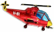 """38"""" Balloon Red Helicopter Shape Mylar Foil Balloon Party Decoration Gifts"""