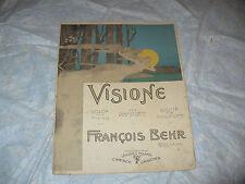 SPARTITO MUSICALE VISIONE FRANCOIS BEHR PIANOFORTE 1898 LEIPZIG CARISCH JANICHEN