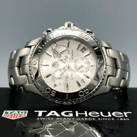 TAG HEUER Link CJ1111.BA0576 42mm Quartz Watch Gloss Silver Date Chronograph