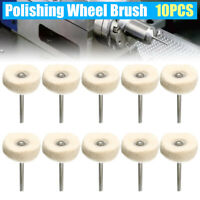 10pcs Polishing Buffing Drill Grinder Wool Cotton Wheel Brush Rotary Tools