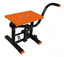 Cavalletto a leva Rtech CROSS con ripiano antiscivolo Arancione Altezza 30 cm