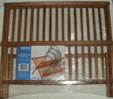 Wooden Dish Rack Anchor Hocking Folding Rustic Pine 2008 Dryer 05921VW NISP