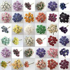 Mulberry Paper Tea Roses Flowers Card Crafts Embellishment Wedding Favours