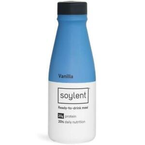 Soylent Vanilla Plant Protein Meal Replacement Shake, 14 Ounce (Pack of 12)