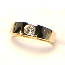 Diamantring 0,45 ct. sehr lebhafter Altschliff Gelbgold (14K) Antik 6,3 Gramm