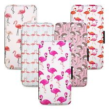 Flamingo Bird Patterns Flip Phone Case Cover Wallet - Fits Iphone 5 6 7 8 X 11