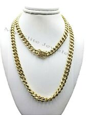 Men's 10 k Yellow Gold Cuban Chain Necklace Box Lock, Rope, Chino 7 mm 100% Real