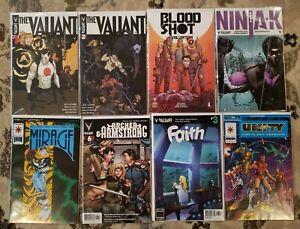 Valiant Comics Lot 8- Bloodshot Ninjak Dr Mirage Archer & Armstrong Unity Faith