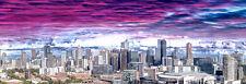 115x40cm Large Australian Landscape Canvas Prints - Aerial view of Melbourne VIC