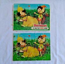 PIXIELAND 20 large piece wooden jigsaw puzzle Golf bunker flag Acorn hat pixies