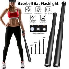 Baseball Bat LED Flashlight Baton Self-Protect Torch Emergency Security Tactical