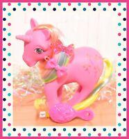 ❤️My Little Pony MLP G1 Vtg Rainbow Ponies Pinwheel Glitter Pink Unicorn 1984❤️