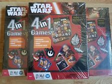 3 Star Wars The Force Awakens 4 in 1 Games Dominoes Bingo Ship Race (Party Pack)