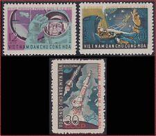 VIETNAM du NORD N°303/305** Espace, 1962 North Vietnam 235-237 Space MNH