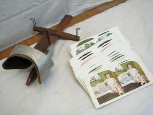 Set 50 Stereoview Cards Comic Series Kids with Stereoscope Viewer Color Print