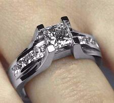 Sale 1.50CT (G-COLOR) Princess Cut Diamond Engagement Ring 14k White Gold PD324G