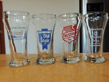 4 Vintage 7-8 ozs. Beer Glasses