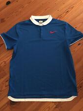Nike Mens Colordry Polo Tennis Shirt- Dri Fit- Federer- Nadal- Xl- Worn Once-Euc